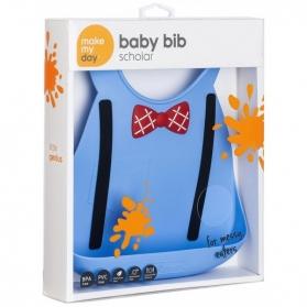 Make My Day Baby Bib - Scholar Blue