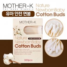 MOTHER-K (KMOM) Hygiene 2in1 Cotton Buds 300pcs (Slim & Spiral Tips)