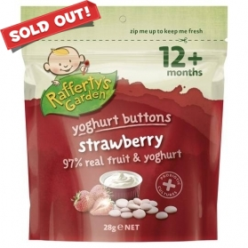 Rafferty's Garden Yoghurt Buttons - Strawberry