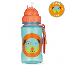 Skip Hop Zoo Straw Bottle - Dog (350ml/12oz)