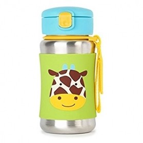 SKIP HOP Zoo Stainless Straw Bottle - Giraffe