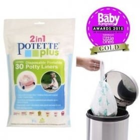 Potette Plus Disposable Portable Potty Liners - 30ps
