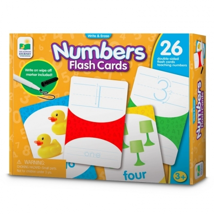 The Learning Journey WRITE & ERASE FLASH CARDS - NUMBERS