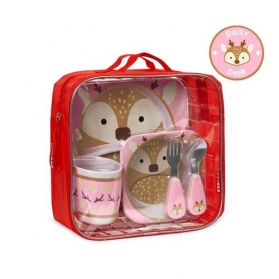 SKIP HOP Zoo Meal Time Feeding Gift Set - Daisy Deer