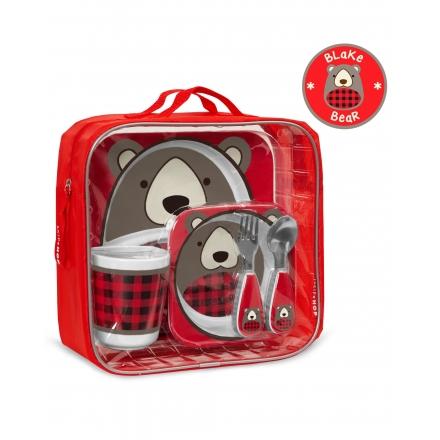 SKIP HOP Zoo Meal Time Feeding Gift Set - Blake Bear
