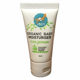 Joey Organic Baby Moisturiser (30ml) - Rose Geranium