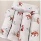 Kidzbee Bello Bamboo Baby Swaddle [3pcs Pack] - fox