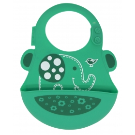 Marcus & Marcus Silicone Baby Bib - Green Ollie