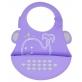 Marcus & Marcus Silicone Baby Bib - Purple Willo