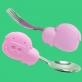 Marcus & Marcus Palm Grasp Spoon & Fork Set - Pink Pokey