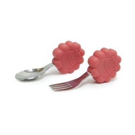 Marcus & Marcus Palm Grasp Spoon & Fork Set - Red Marcus