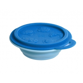 Marcus & Marcus Silicone Collapsible Bowl - Blue Lucas