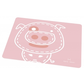 Marcus & Marcus Silicone Placemat - Pink Pokey