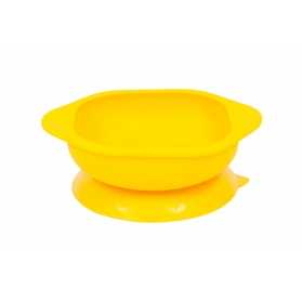 Marcus & Marcus Silicone Suction Learning Bowl - Yellow Lola