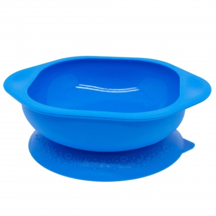 Marcus & Marcus Silicone Suction Learning Bowl - Blue Lucas