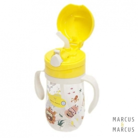 Marcus & Marcus Tritan Straw Bottle 350ml - Yellow Lola