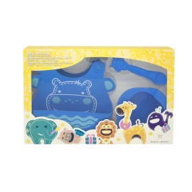 Marcus & Marcus Baby Feeding Starter Set - Blue Lucas