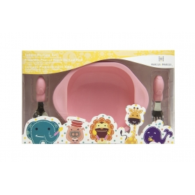 Marcus & Marcus Toddler Mealtime Set - Pink Pokey