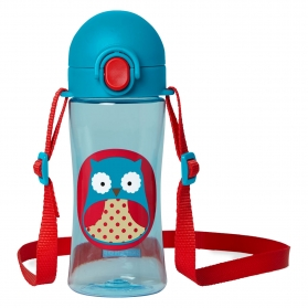 Skip Hop Zoo Lock-Top Sports Bottles - Owl