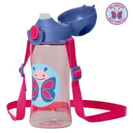 Skip Hop Zoo Lock-Top Sports Bottles (414ml/14oz) - Butterfly
