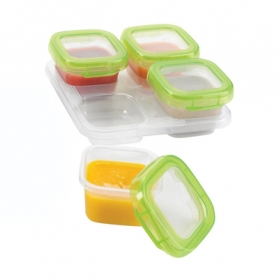 OXO TOT Baby Blocks Freezer Storage Containers (4oz/120ml) - Green
