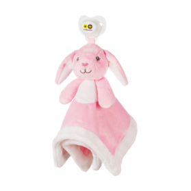 Nookums® Paci-Plushies Pacifier Holder Blankies - Bella Bunny