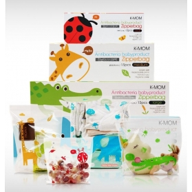 KMOM Anti-Bacterial Friendly Baby Product Zipper Bag [X-Large: 32x36cm] Elephant