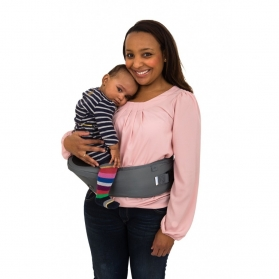 HIPPYCHICK BABY HIPSEAT CARRIER- DARK GREY