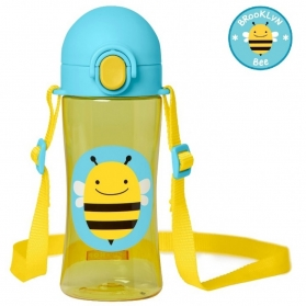 Skip Hop Zoo Lock-Top Sports Bottles (414ml/14oz) - Bee