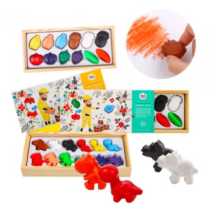 Joan Miro Beewax Crayon (Dinosaurs/Fruits)