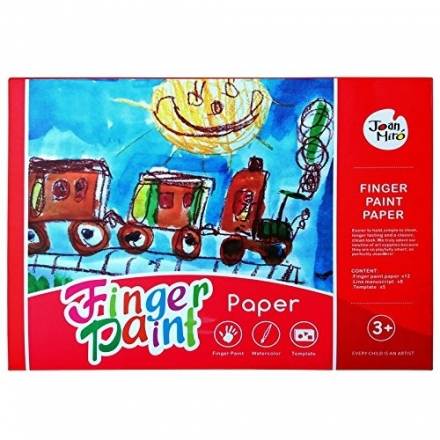 Joan Miro Finger Paint Drawing Paper & Art Tool (8K/20 Sheets)