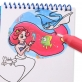 Joan Miro Magic Water Coloring Pad - Fairy Tale Princess