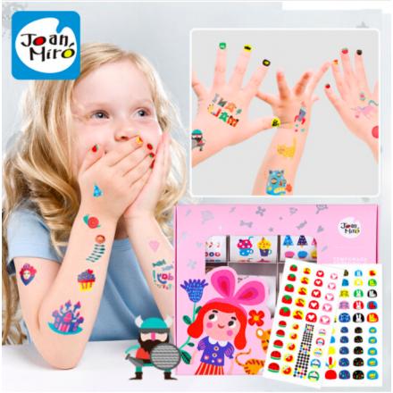 Joan Miro Tattoo & Nail Stickers for Girls