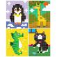 Joan Miro Pixel Pictures Coloring Book-Animal Worl