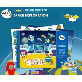 Joan Miro Reusable Sticker Pad - Space Exploration