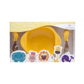 Marcus & Marcus Toddler Mealtime Set - Yellow Lola