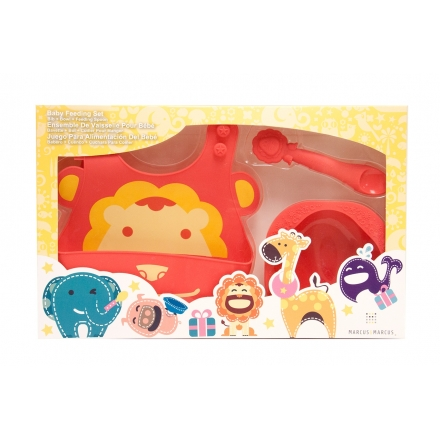 Marcus & Marcus Baby Feeding Starter Set - Red Marcus