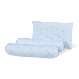 Comfy Living Bolster & Pillow Set (S) - Blue Star