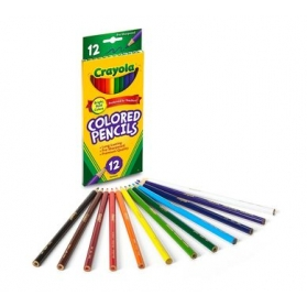 CRAYOLA Nontoxic Long Colored Pencils - 12ct
