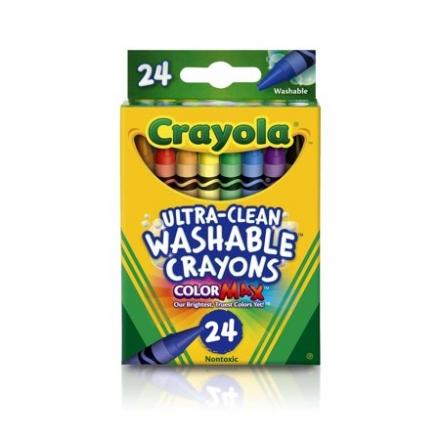 CRAYOLA Ultra-Clean Washable Crayons - 24ct