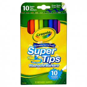 CRAYOLA Washable Super Tips Markers - 10ct