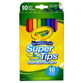 CRAYOLA Washable Super Tips Markers - 10ct