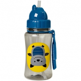 Skip Hop Zoo Straw Bottle - Bat (350ml/12oz)