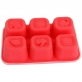 Marcus & Marcus Food Cube Tray 100% Silicone - Red