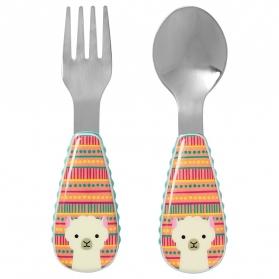 SKIP HOP Zootensils - Fork & Spoon - Llama