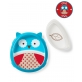 SKIP HOP Zoo Eat Neat Sectional Plate & Bowl - Owl