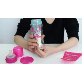 MOTHER-K (K-Mom) Disposable Travel Feeding Bottles + 10s disposable bags