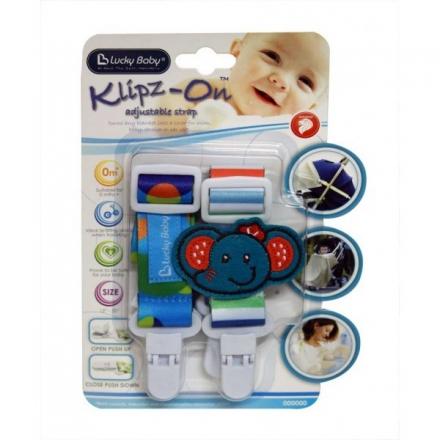 Lucky Baby Klipz-On™ Adjustable Strap - Elephant