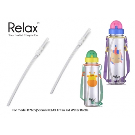 RELAX TRITAN KIDS WATER BOTTLE 550ml [REPLACEMENT STRAWS]