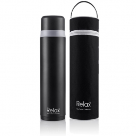 RELAX 1000ML 18.8 STAINLESS STEEL SCREW CAP THERMAL FLASK WITH FREE POUCH